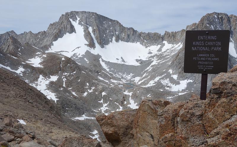 Lamarck Col at 12,960 feet.