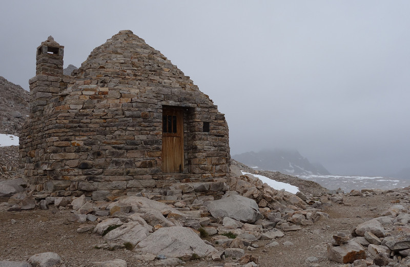 The Muir Hut on Muir Pass at 11,955 ft.