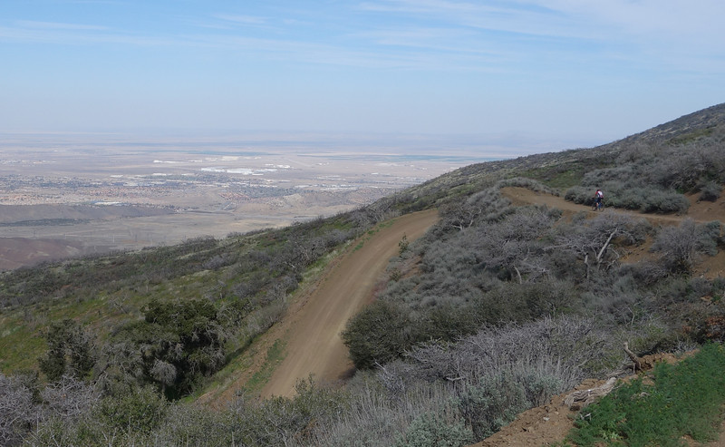 Looking down into Palmdale where I live.