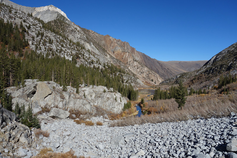Hiking up the McGee Creek drainage