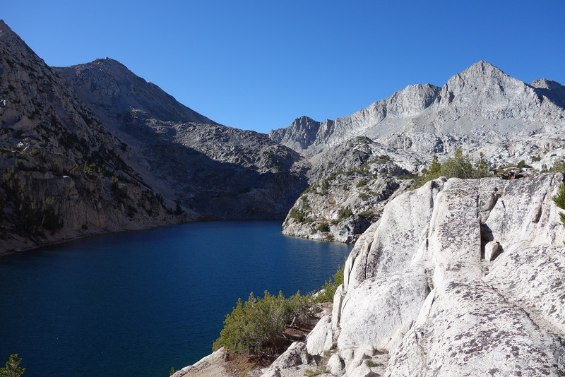Another unnamed lake in Sixty Lakes Basin on the cross-country trek to Sixty Lakes Col, which overlooks Gardiner Basin.