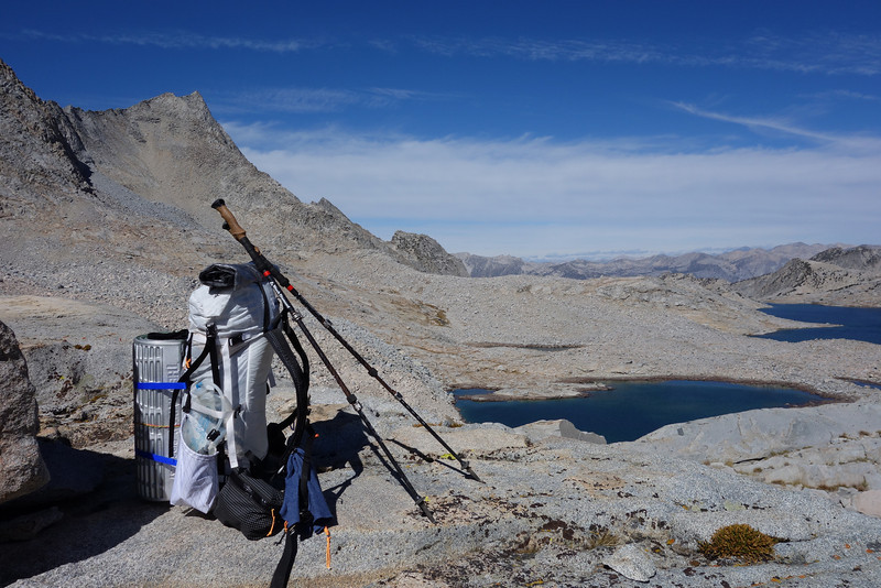 Standing on Sixty Lakes Col looking down on Gardiner Basin.  I'm eager to do a trip through this basin in the future!