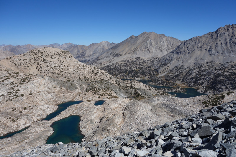 Looking north from Glenn Pass at almost 12,000 ft.