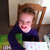 Mackenzie, Joy School painted lips!