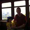 Scott and Mackenzie on the funicular in Pittsburgh