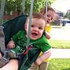 Baby Daniel, swinging with Mackenzie