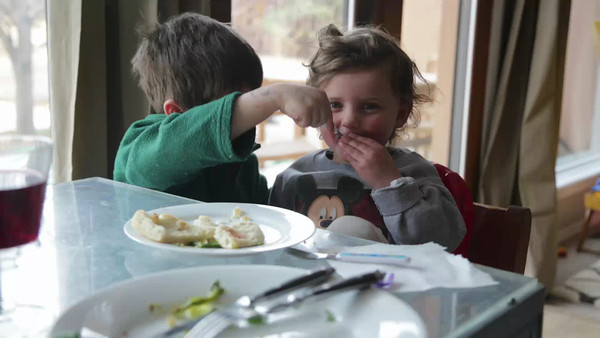 Luke feeding Ella - one of our cutest clips ever...