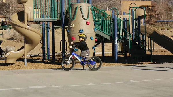 Pedal-bike riding