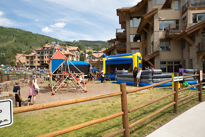 we happened to arrive just as an afternoon festival in mountain village with plenty of kid activities was kicking off