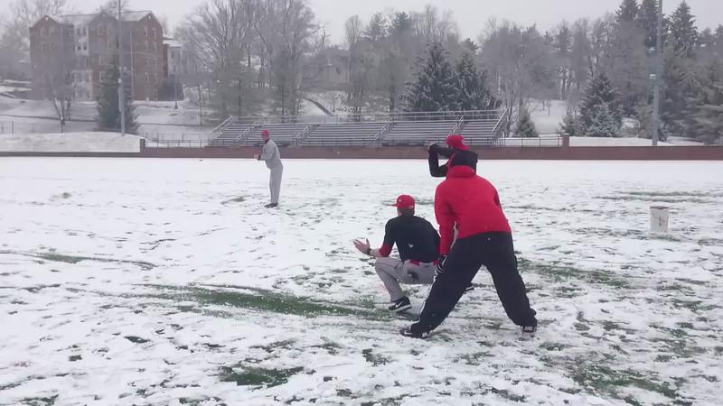 Having fun on a snowy day!