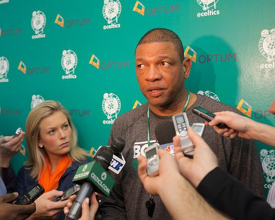 "Celtics coach Glenn ""Doc"" Rivers on the canceled game"