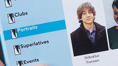 041913, Cambridge, MA -  Boston Marathon bombing suspect Dzhokhar Tsarnaev seen here in his high school year book photo. Photo by Ryan Hutton
