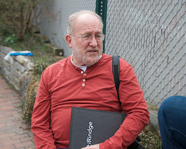 041913, Cambridge, MA - Larry Aaronson, a former teacher at Cambridge Rindge & Latin School, says he knew Boston Marathon bombing suspect Dzhokhar Tsarnaev and was neighbors with him. Photo by Ryan Hutton