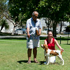 My Casey with Nikki wins Winners Dog from the 4 to 6 month puppy class.