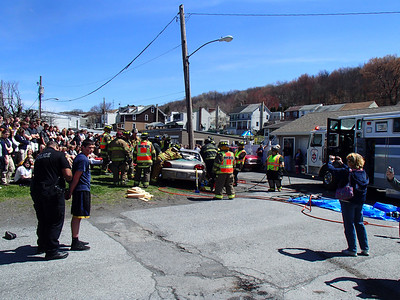 MAHANOY AREA HIGH SCHO0L MOCK DUI ACCIDENT 4-17-2013