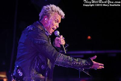 Billy Idol performs on June 2, 2013 at the Casino Ballroom in Hampton Beach, NH