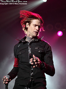 Buckcherry performs at the Tsongas Center in Lowell, MA on Oct. 25, 2013 as part of the WAAF Halloween Thrillogy!