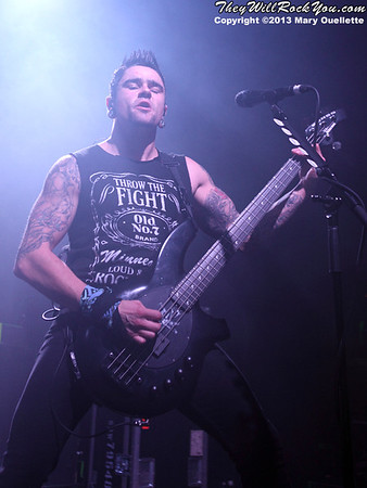 Bullet For My Valentine perform at the Casino Ballroom in Hampton Beach, NH on Nov. 1, 2013 on the Outbreak Tour