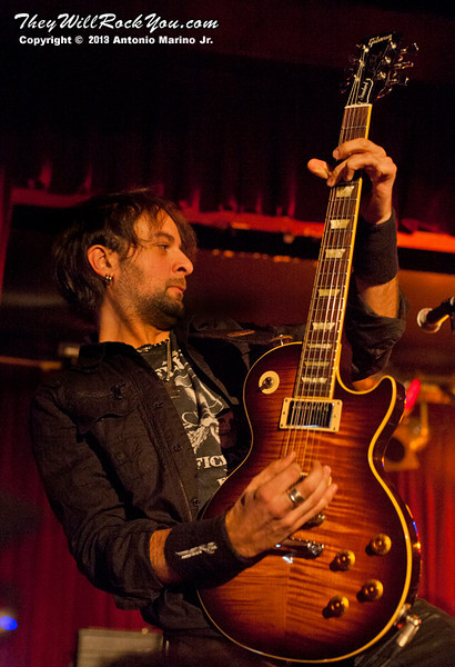 """Luca Princiotta of Doro performs on February 4, 2013 during her tour in support of """"Raise Your Fist"""" at BB Kings in New York, NY"""
