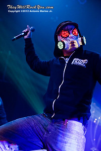 "J-Dog of Hollywood Undead performs on January 18, 2013 during their sold out ""The Underground Tour"" at the Gramercy Theater in New York, NY"