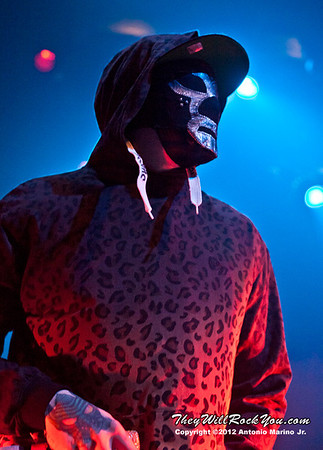 "Funny Man of Hollywood Undead performs on January 18, 2013 during their sold out ""The Underground Tour"" at the Gramercy Theater in New York, NY"
