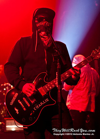"Charlie Scene of Hollywood Undead performs on January 18, 2013 during their sold out ""The Underground Tour"" at the Gramercy Theater in New York, NY"