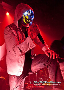 "Johnny 3 Tears of Hollywood Undead performs on January 18, 2013 during their sold out ""The Underground Tour"" at the Gramercy Theater in New York, NY"
