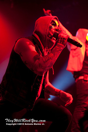 "Danny of Hollywood Undead performs on January 18, 2013 during their sold out ""The Underground Tour"" at the Gramercy Theater in New York, NY"
