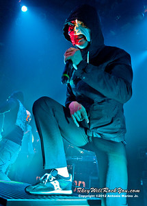 "Da Kurlzz of Hollywood Undead performs on January 18, 2013 during their sold out ""The Underground Tour"" at the Gramercy Theater in New York, NY"