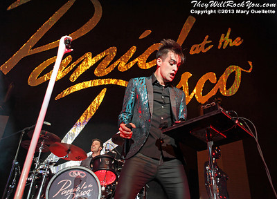 Panic at the Disco perform at the Tsongas Arena in Lowell, MA on September 6, 2013