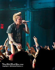 Jacoby Shaddix of Papa Roach performs on January 23, 2013 at Terminal 5 in New York, NY