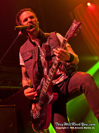 Jerry Horton of Papa Roach performs on January 23, 2013 at Terminal 5 in New York, NY