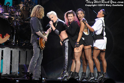 """Pink Brings Her 'Truth About Love"""" Tour to the TD Garden in Boston, Mass. on December 5, 2013"""