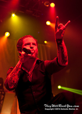 "Corey Taylor of Stone Sour performs on January 23, 2013 during their tour in support of ""House Of Gold & Bones Pt. 1"" at Terminal 5 in New York, NY"