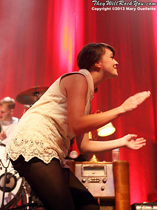 Neyla Pekarek of The Lumineers performs on February 4, 2013 at the House of Blues in Boston, Massachusetts
