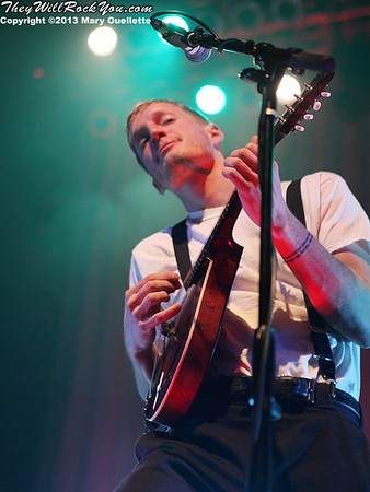Jeremiah Fraites of The Lumineers performs on February 4, 2013 at the House of Blues in Boston, Massachusetts