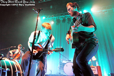 The Lumineers performs on February 4, 2013 at the House of Blues in Boston, Massachusetts