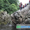 Tubing and Cliff Jumping with Ace Adventure on the River Garry in the centre of Scotland near Pitlochry, Perth, Aberfeldy, Glasgow and Edinburgh