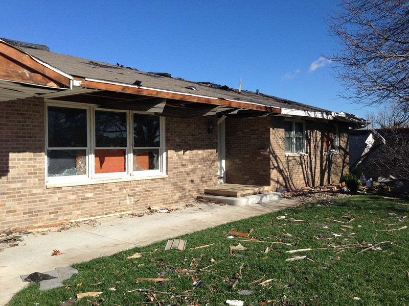 Damage to Pastor's house - Our Savior Lutheran Church in Washington, IL