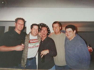 One of the MANY parties at Pete's house! Jason S, Bob B, Donald B, Steve, Jeff Anaya.