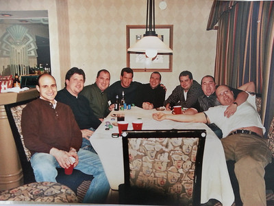 All of the guys rented a suite downtown Mpls and played poker and smoked cigars all night!  Jason K, Eric N, Troy B, Steve, Donald, Bill G, Derek B, Pete J.