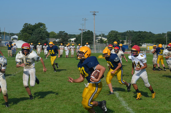 8-14-13 Football Frenzy Scrimmage