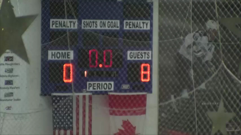 1st Period Part 2...Score is not 8-0 at this point. There has been a clock malfunction.