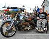 Corporal John Vail with the DAV American veterans tribute showbike