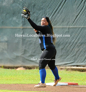 """03-02-13 Kahuku Red Raiders """"vs"""" Moanalua Na Menehune Varsity Girls Softball (1-19)"""