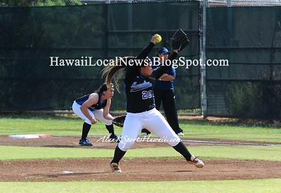 """03-05-13 Kailua Surfriders Varsity Girls Softball team """"vs"""" Moanalua Na Menehune (2-4)"""