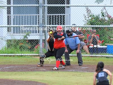 """03-26-12 Kahuku Red Raiders """"vs"""" Moanalua Na Menehune Varsity Girls Softball (0-27)"""
