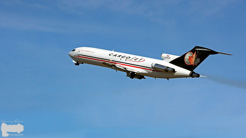 Cargojet 618 (Boeing 727) lifting off runway 29 on the way to Halifax YHZ