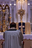 Assumption Grotto's pastor, Fr. Eduard Perrone, in Adoration during 40 Hours Devotion on Saturday, November 9, 2013.