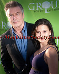 Alec Baldwin, Hilaria Thomas Baldwin attend Dive into Summer to Benefit Group For The East End at Wolffer Estate Vineyard, Sagaponack